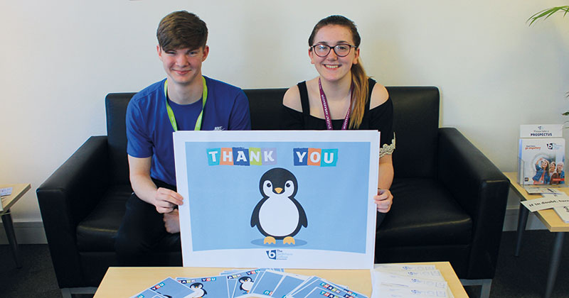 College wellbeing scheme has students thanking their former teachers