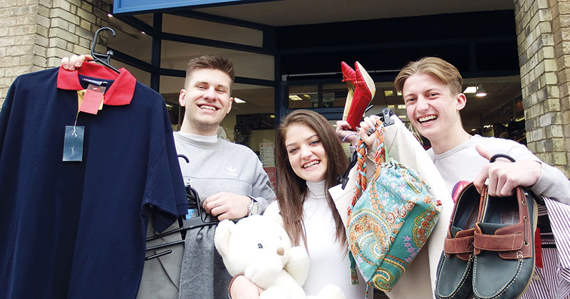 Suffolk charity shops taken over by students for a week to boost takings