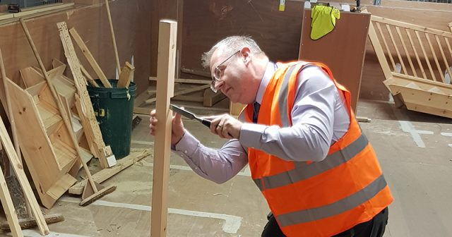 Construction learners make stage props for charity's performance of the Wizard of Oz