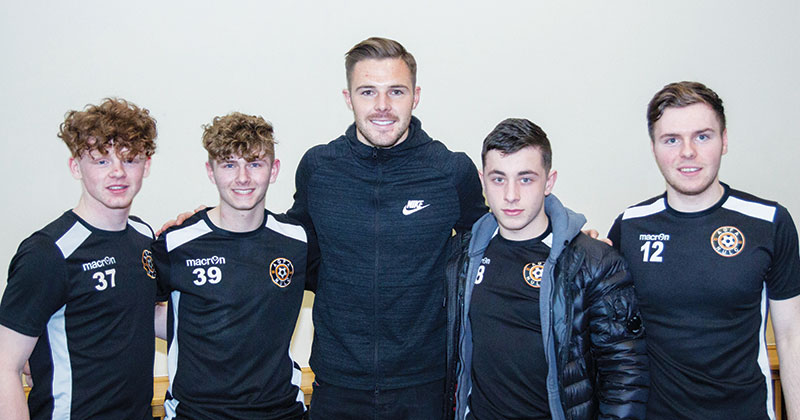 England goalkeeper visits football fans at Newcastle college