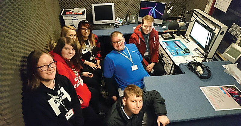 Creative media students are the first to broadcast on new national radio station