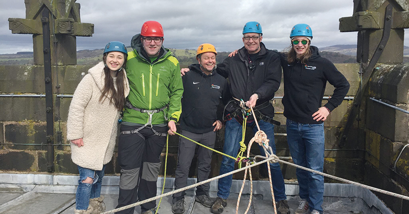 Principal and Mayor take on abseil challenge