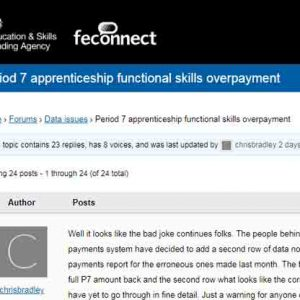 Apprenticeship payments system malfunctions again