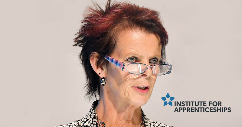 Anne Milton hasn't met the IfA's apprentice panel in its first year