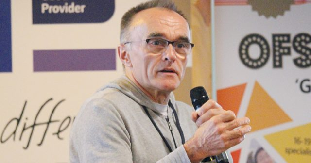 Film director Danny Boyle discusses his career with students