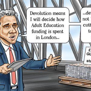 Mayor of London blames DfE for having to top-slice AEB