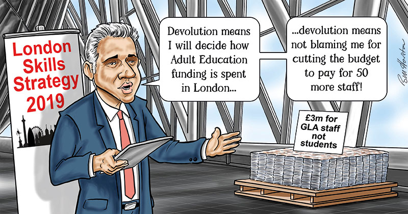 Mayor of London blames DfE for having to top-slice AEB