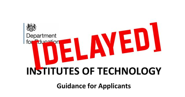 Bidders remain in the dark as DfE delays Institutes of Technology tender results