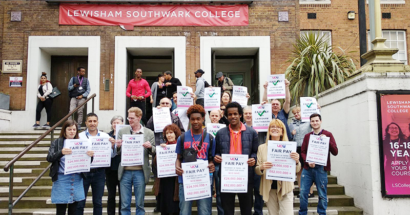 London UCU members vote to strike against NCG paymasters