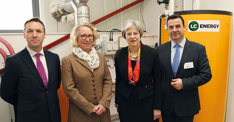 Theresa May launches renewable energy training facility