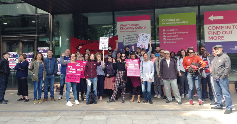 London colleges hit with strikes - but exams go on