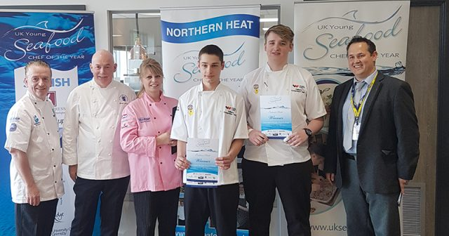 Culinary skills learners win gold in regional heats of Young Seafood Chef of the Year 2018