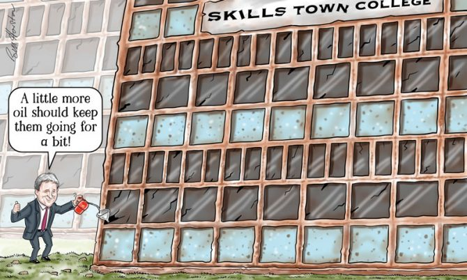 Atkins: Struggling colleges will still need stopgap funds