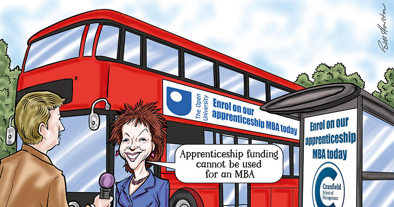 Huge concern over surge in higher level management apprenticeships