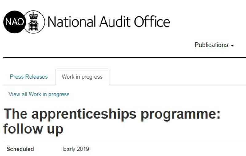 National Audit Office reviewing apprenticeship reforms progress