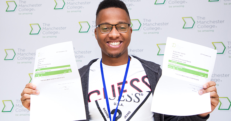 "Manchester College learner ""excited about the future"" after passing GCSEs on fifth attempt"