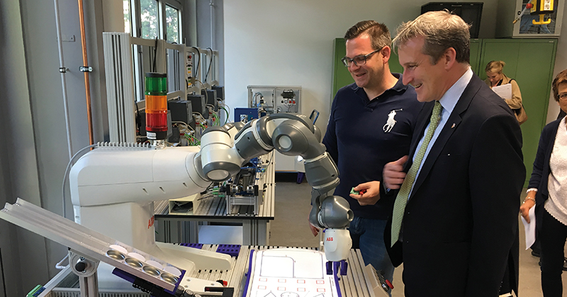 Education secretary in Germany in search of inspiration