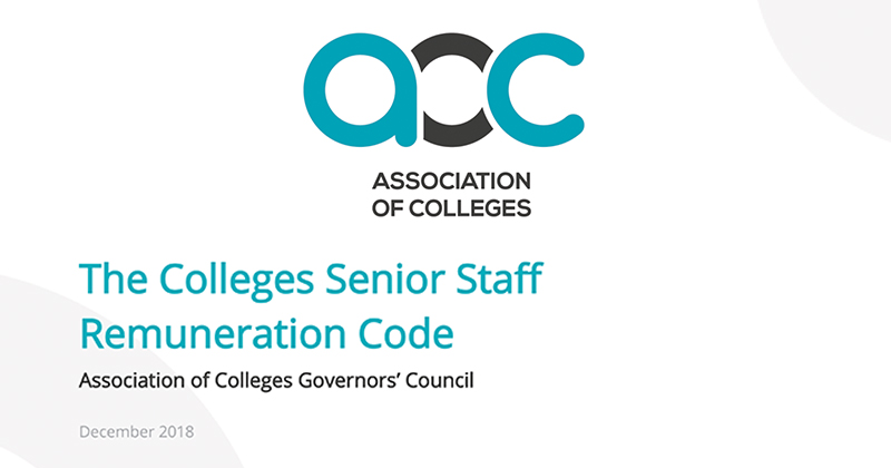 DfE urges colleges to report whether they are adopting AoC's controversial senior pay code