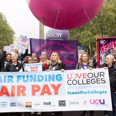 Thousands march on parliament to protest for fair college funding