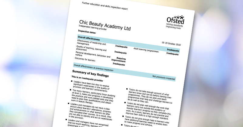 Beauty training provider slammed by Ofsted for 'misleading' careers advice