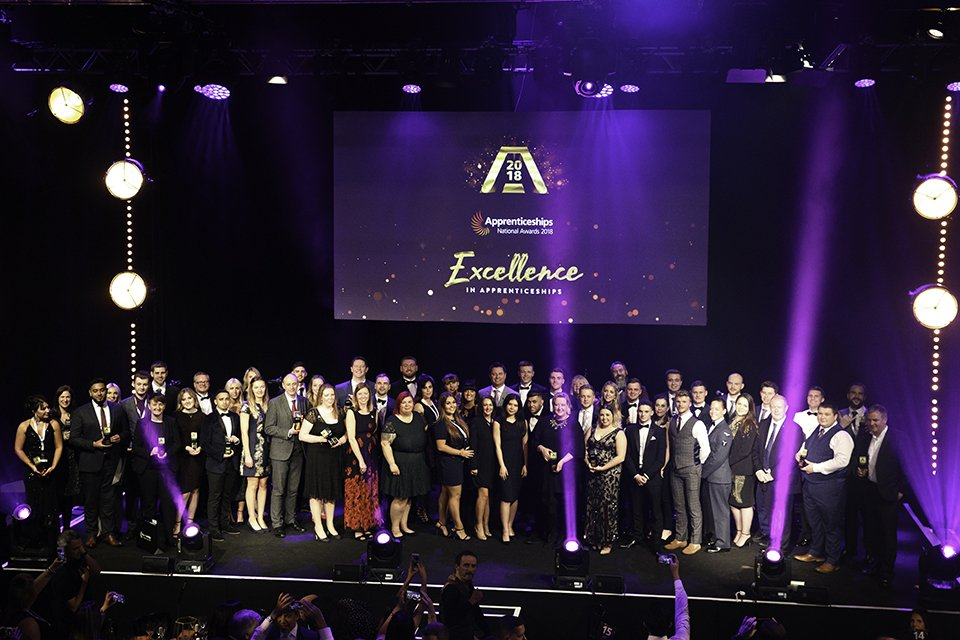 Star learners and employers celebrated at National Apprenticeship Awards 2018 ceremony