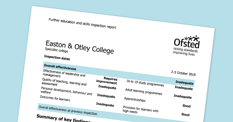 Second consecutive 'inadequate' Ofsted inspection for previously grade two college