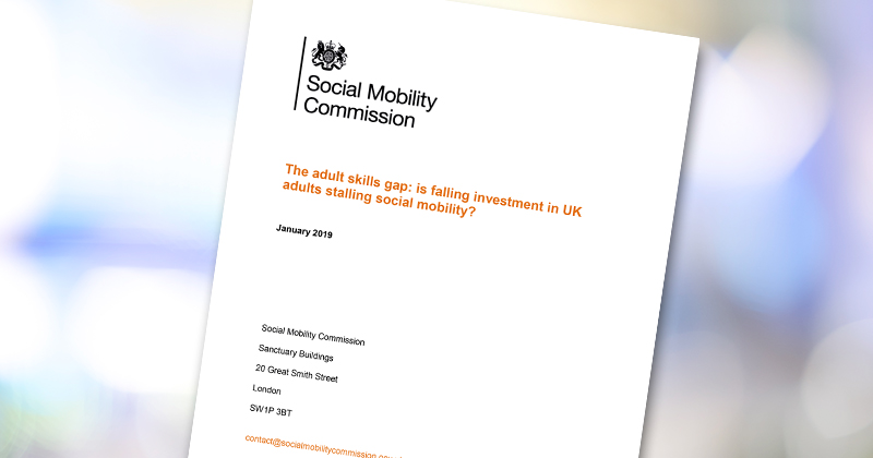 Social Mobility Commission report warns of 'virtuous' and 'vicious' cycle of adult learning