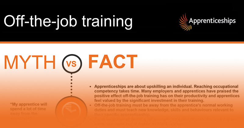 DfE publishes 20% off-the-job training 'mythbusters'
