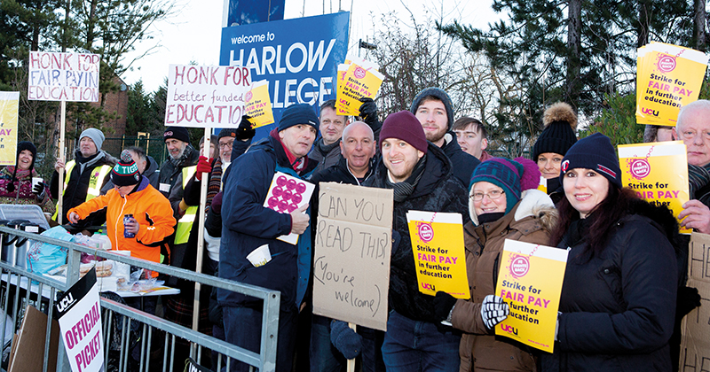 UCU members strike over pay in 13 colleges across England