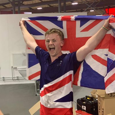 WorldSkills 2019 day 3: Thomas flush with success as he steams past the finish line