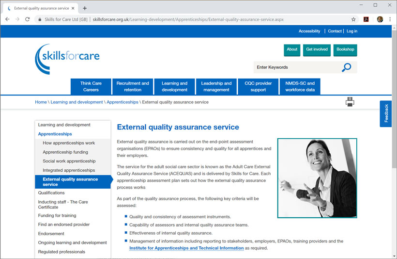Skills for Care quits official quality assurance role for apprenticeships