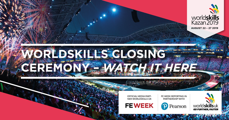 WorldSkills closing and medal ceremony | watch it live here