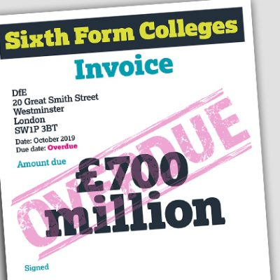 Union to present £700m sixth form college invoice to DfE