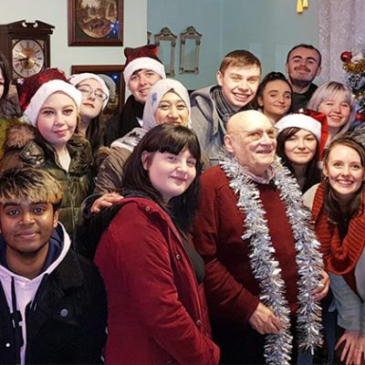 College delivers TV Christmas to local pensioner