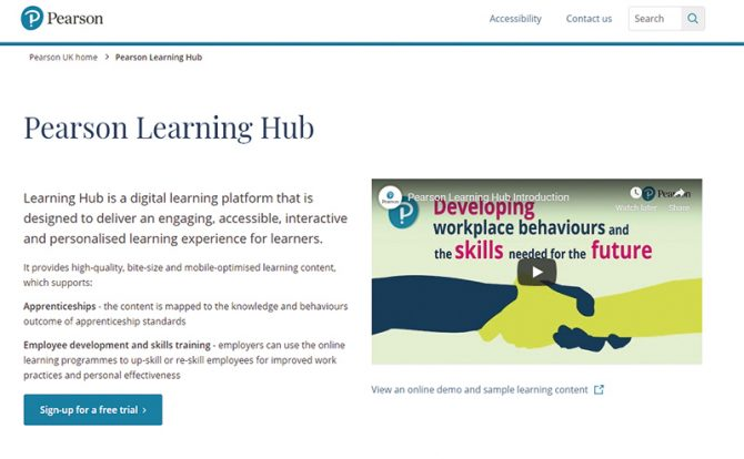 Pearson launches new Learning Hub
