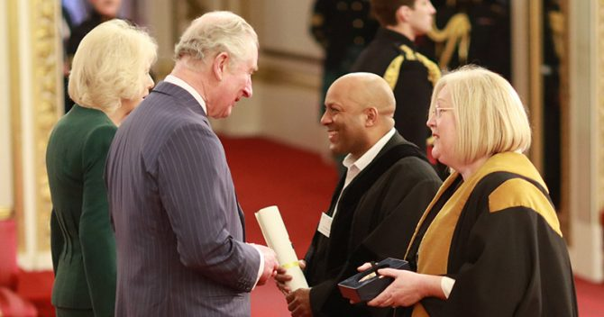 Colleges collect royal honour from Buckingham Palace