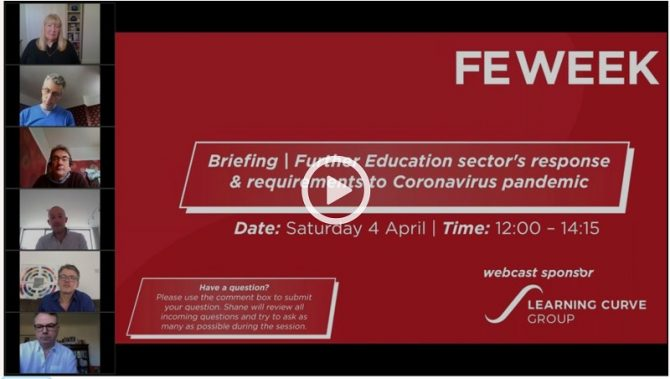 Free recording: Latest FE policy response to Covid-19 outbreak