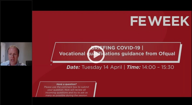 Free recording: Response to Ofqual's guidance on grading vocational qualifications