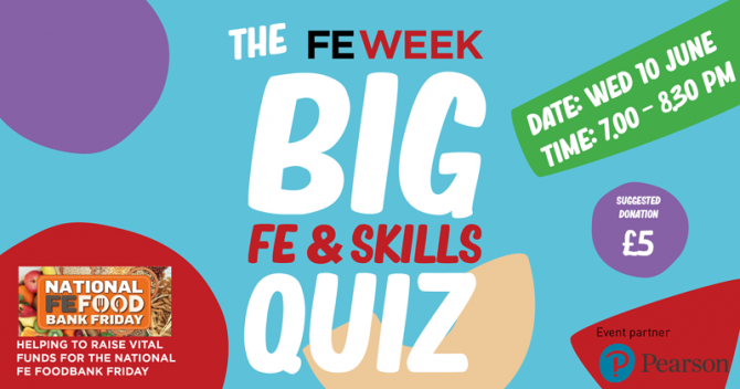 How to take part: the FE Week BIG FE & Skills Quiz