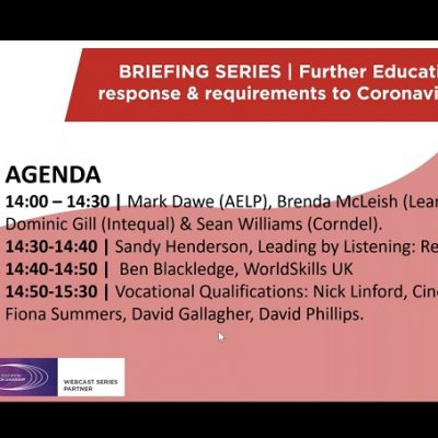 Free recording: Latest FE policy response and requirements to Covid-19 outbreak