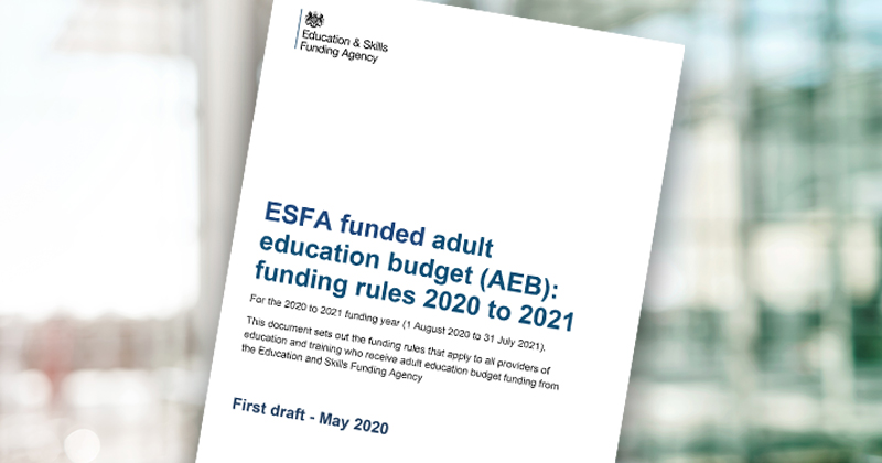 AEB funding rules published in draft - but without threatened subcontracting limits