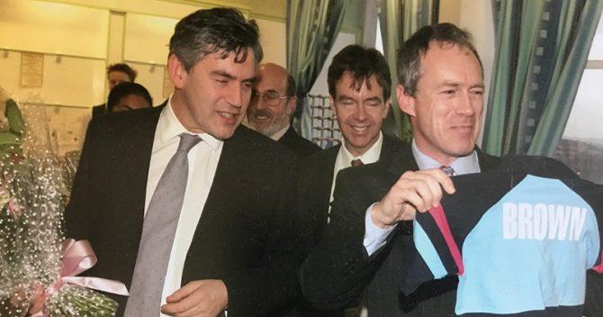 Ian Pryce meeting Gordon Brown