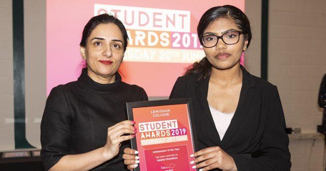 Sohail at the Lewisham student awards